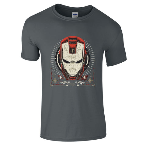 Mens T-Shirts - Iron Man Pattern T-Shirt