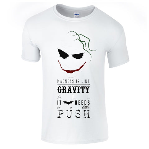 Mens T-Shirts - Joker Gravity Quote T-Shirt