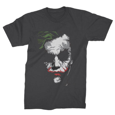 Joker Heath Ledger Face T-Shirt-Hero Gear