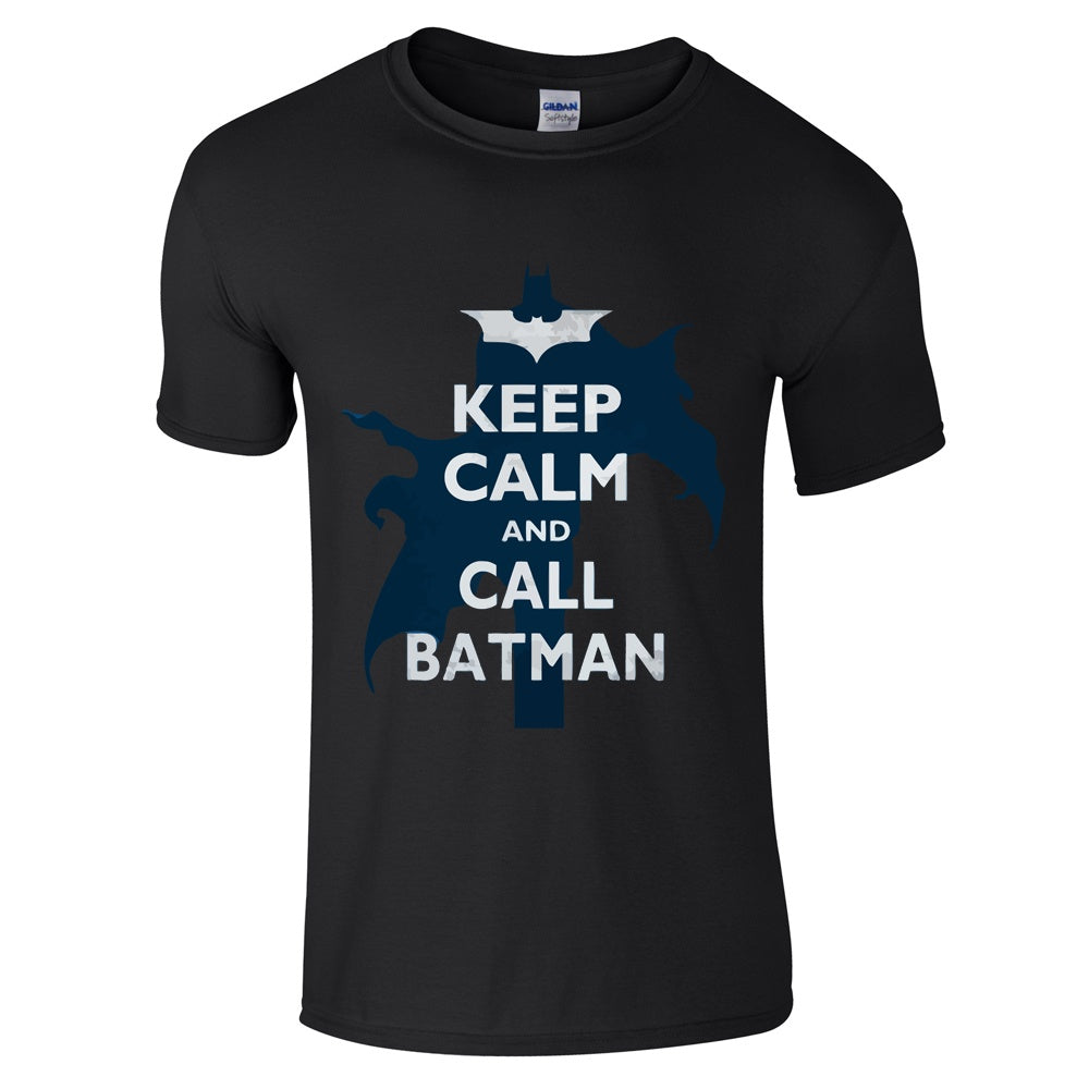 Mens T-Shirts - Keep Calm And Call Batman T Shirt