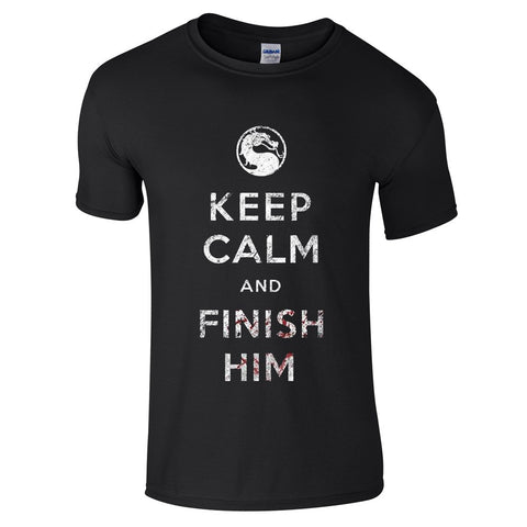 Mens T-Shirts - Keep Calm And Finish Him Mortal Kombat T-Shirt
