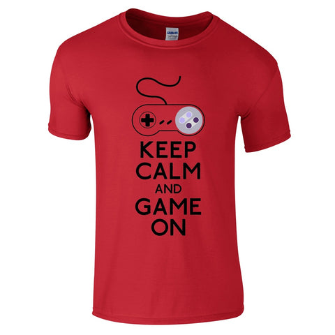 Mens T-Shirts - Keep Calm And Game On T-Shirt
