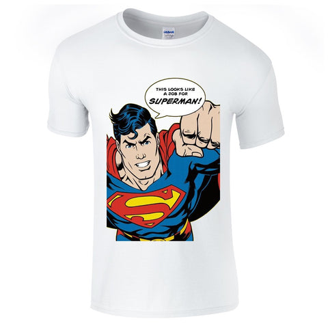 Mens T-Shirts - Looks Like A Job For Superman T-Shirt