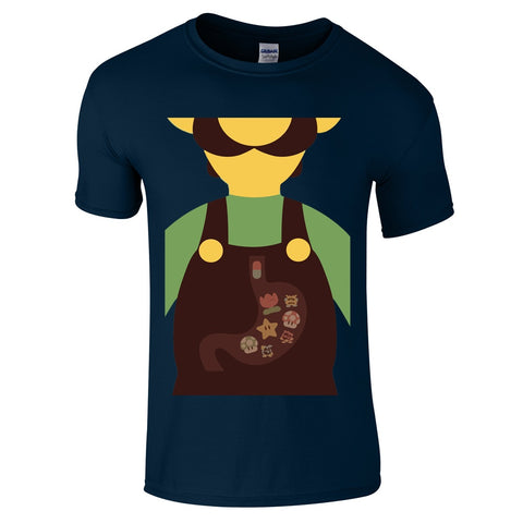 Luigi Belly T Shirt-Hero Gear