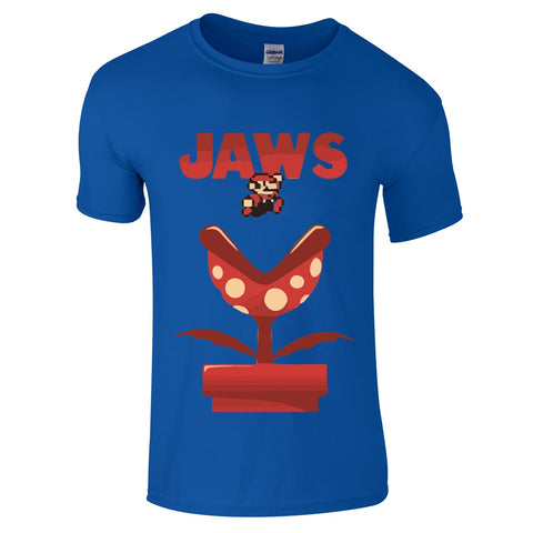 "Mens T-Shirts - Mario ""Jaws"" Inspired T-Shirt"