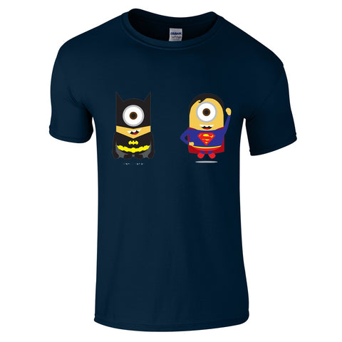 Mens T-Shirts - Minion Batman V Superman T-Shirt