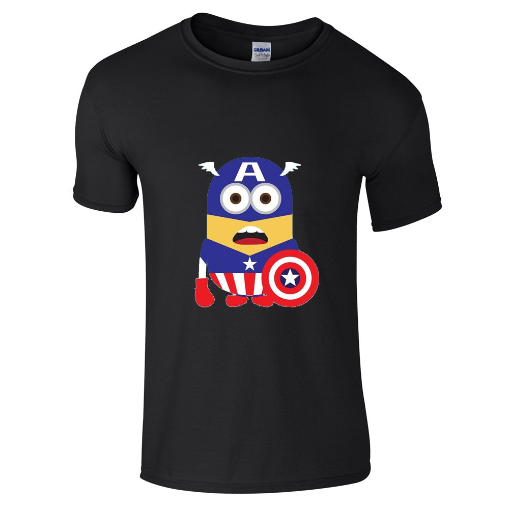 Mens T-Shirts - Minion Captain America T-Shirt