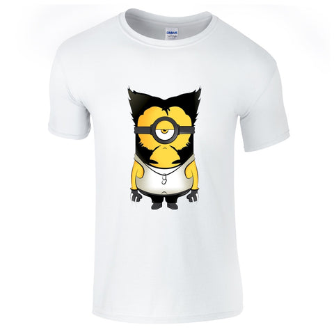 Mens T-Shirts - Minion Wolverine T-Shirt