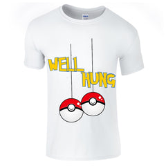 Mens T-Shirts - Pokemon Well Hung Christmas T-Shirt