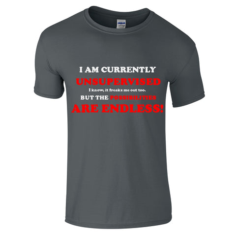 Mens T-Shirts - Possibilities Are Endless Funny T-Shirt