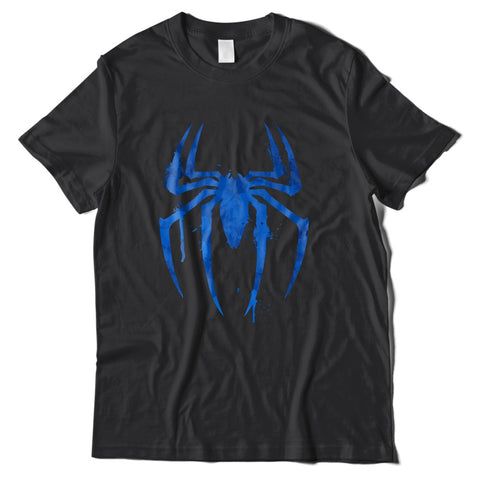 Mens T-Shirts - Spider-Man Blue Logo T-Shirt