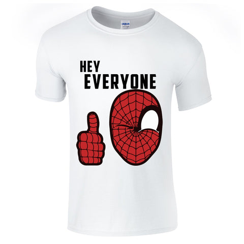 "Mens T-Shirts - Spider-Man ""Hey Everyone"" Civil War T-Shirt"