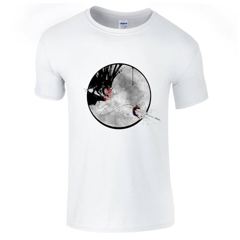 Mens T-Shirts - Spiderman V Venom Moon T-Shirt