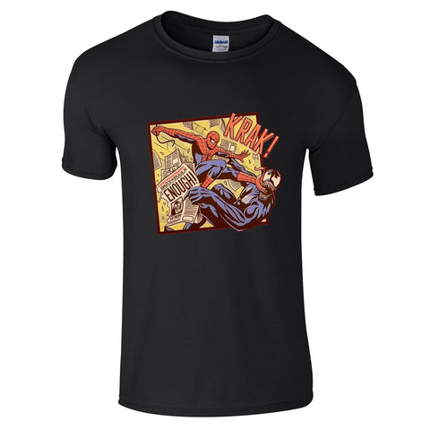 Mens T-Shirts - Spiderman Venom Arm Wrestle T-Shirt