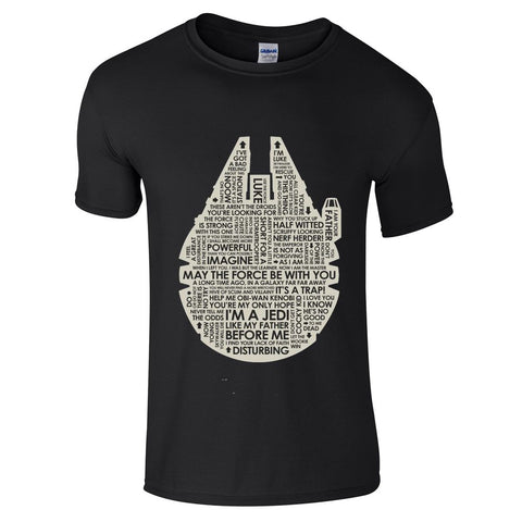 Mens T-Shirts - Star Wars Millenium Falcon T-Shirt
