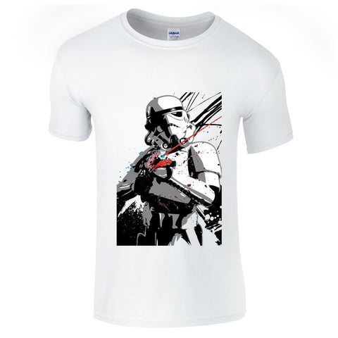 Mens T-Shirts - Star Wars Storm Trooper Splash T-Shirt