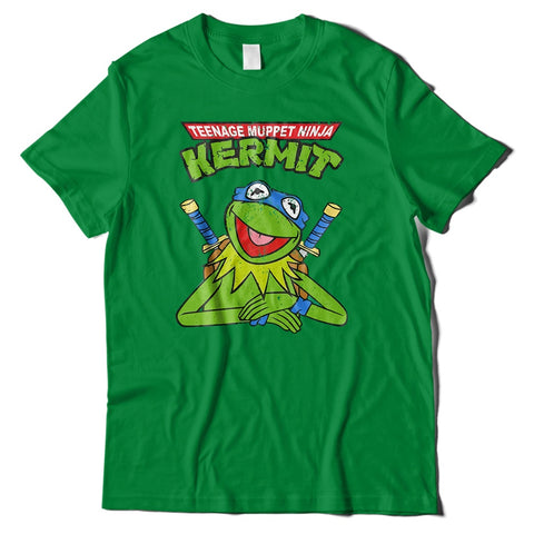 Mens T-Shirts - Teenage Muppet Ninja Kermit T-Shirt