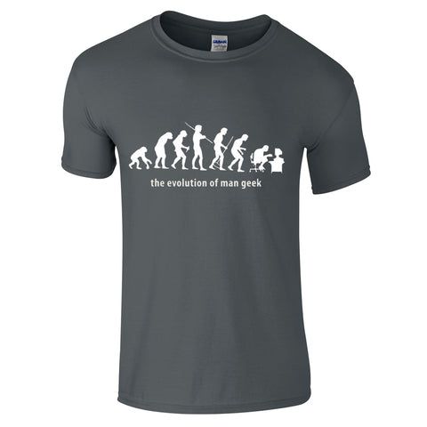 Mens T-Shirts - The Evolution Of The Man Geek T-Shirt