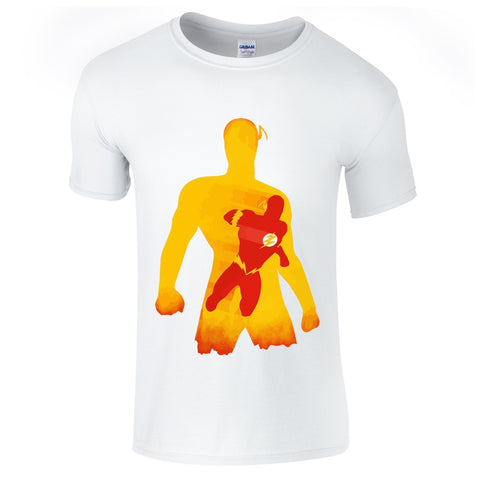 Mens T-Shirts - The Flash Silhouette T Shirt