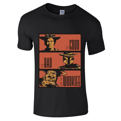 The Good The Bad The Wookie Star Wars T-Shirt-Hero Gear