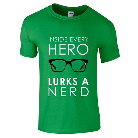 Mens T-Shirts - Underneath A Hero T-Shirt