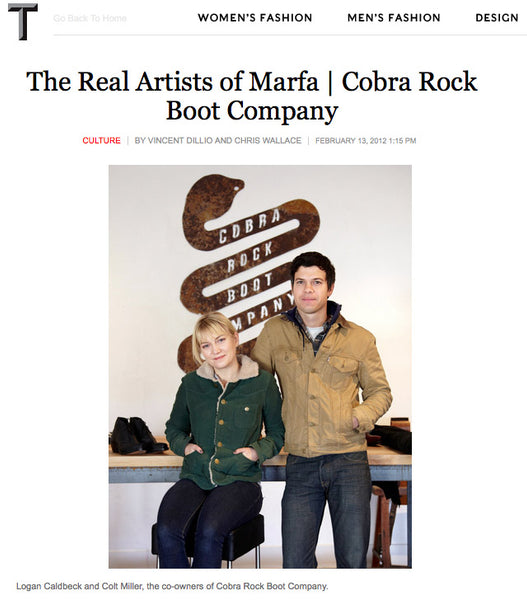 T Magazine: The Real Artists of Marfa