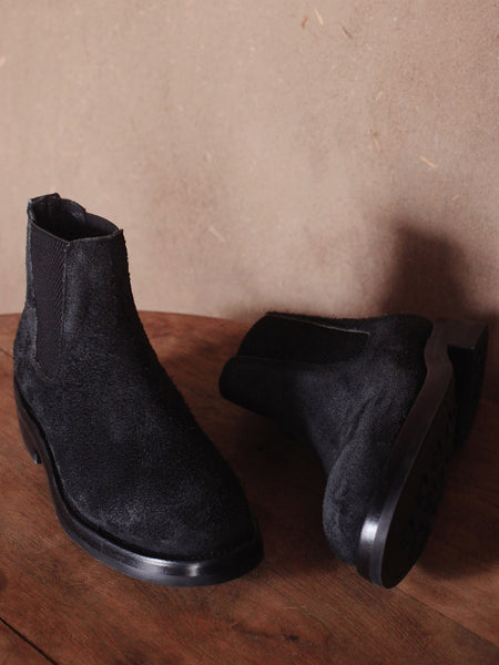 Basin Boots in Rough-Out Black
