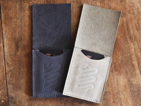 Buffed Leather Boot Scrap Wallet