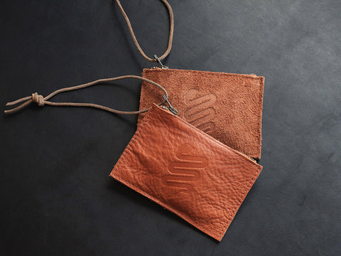Small Leather Zip Wallet