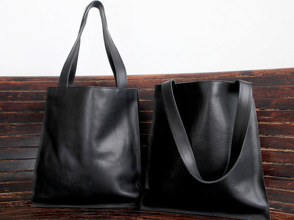 Dean Street Tote in Black Leather
