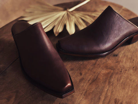 Highland Mules in Dark Brown