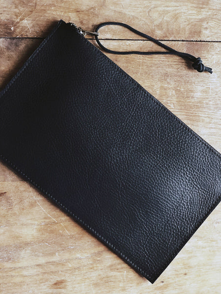 Large Leather Clutch Pouches