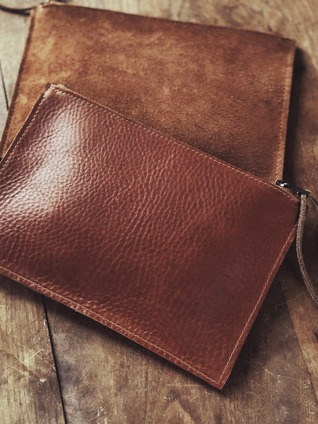 Leather Clutch Pouches