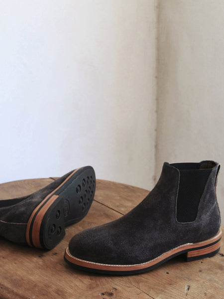 Basin Boots in Rough-Out New Moon Grey