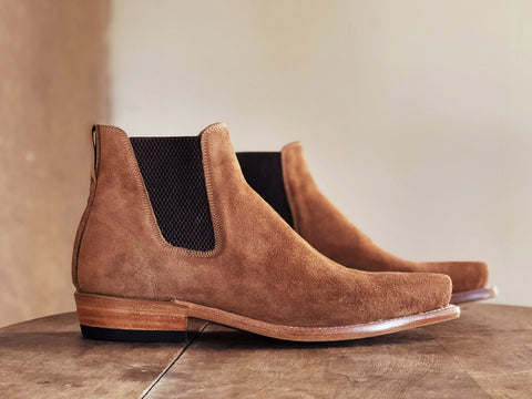 Pronghorn Men's Boots in Rough-Out Lager