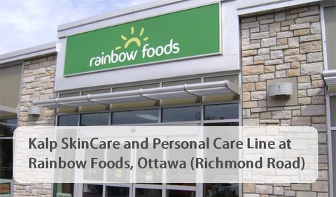 Kalp Ayurvedic Skin care now at Rainbow Foods in Ottawa