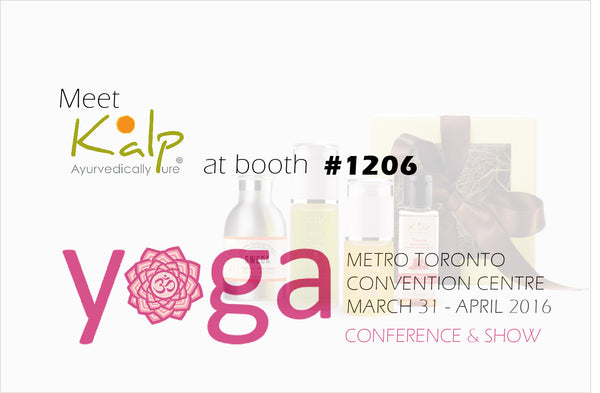 Meet Kalp at ‪YOGA ‬CONFERENCE‬ & ‪SHOW‬ TORONTO, Mar 31 - Apr 3, 2016