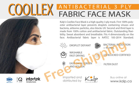 Kalp Coollex Face Mask Ottawa washable COVID