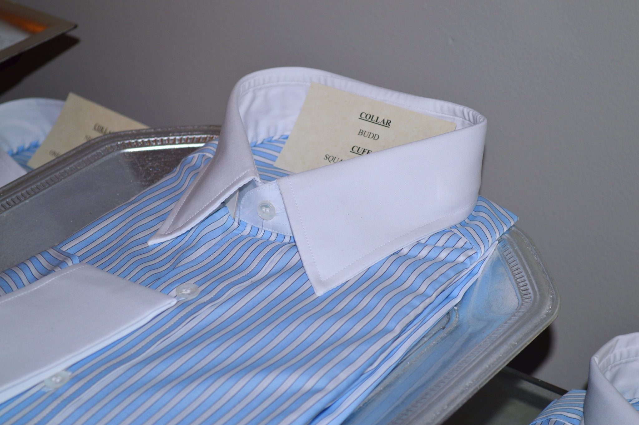 collar and cuff selection custom shirts