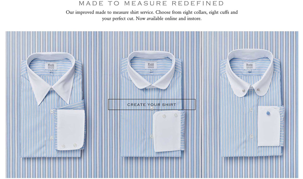 made to measure shirting made in england at sterling & burke