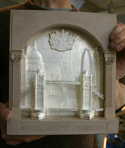 This model was created for display in The Department of the Taoiseach at Government Buildings in Dublin. It now sits at the entrance to theOffice of the Taoiseach (The Irish Prime minister)