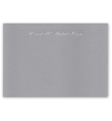 Correspondence Card | Grey with White | Full Names