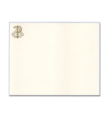 Correspondence Card | Gold Monogram | Hand Engraved | Traditional