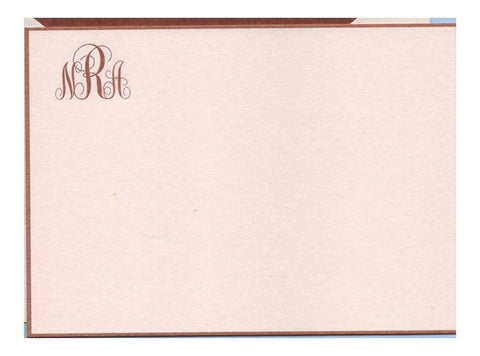 Correspondence Card | Pink and Brown