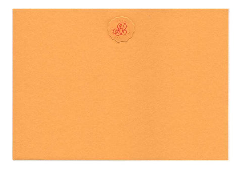 Correspondence Card | Gold with Pie Crust Monogram