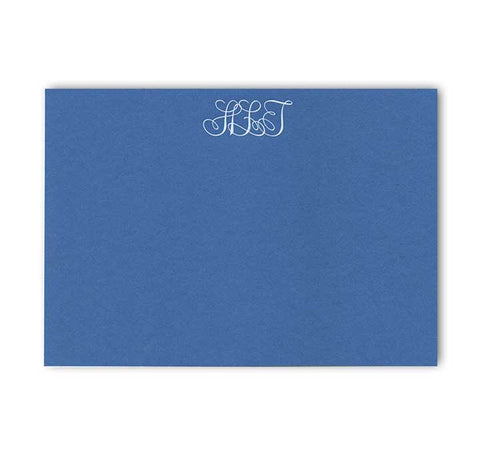 Correspondence Card | Blue and White