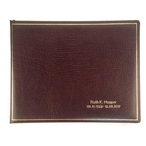 funeral guest book leather premium quality