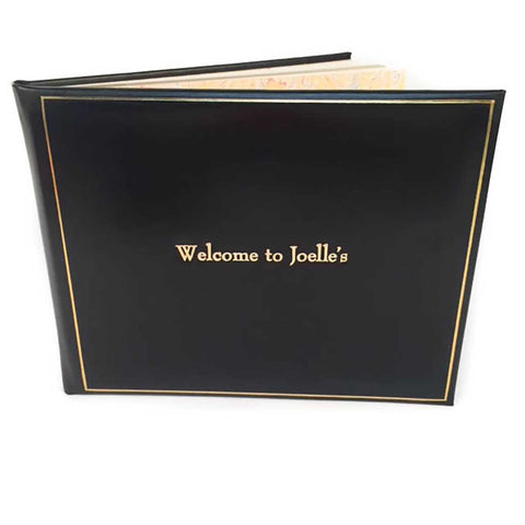 guest book for home leather