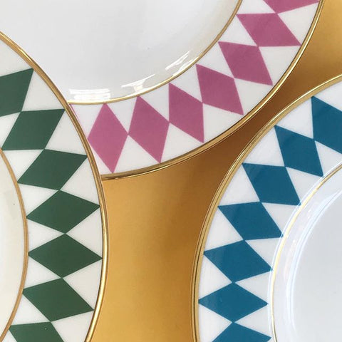halcyon days bone china plates dinner set