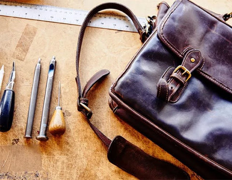 Tusting Leather Goods Briefcase